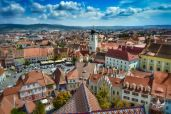 Aerial view of Sibiu