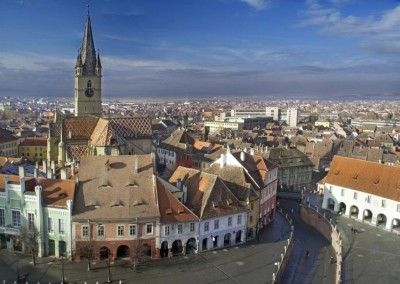Sibiu in a late winter morning