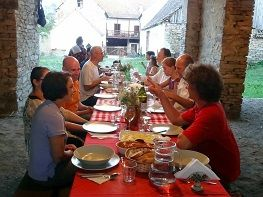 Transylvanian cooking class and courtyard dinner