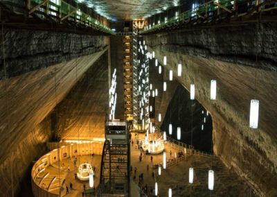 Turda-Salt-Mine height