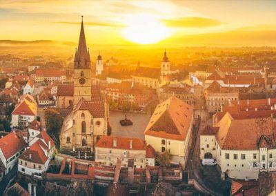 Sibiu aerial view