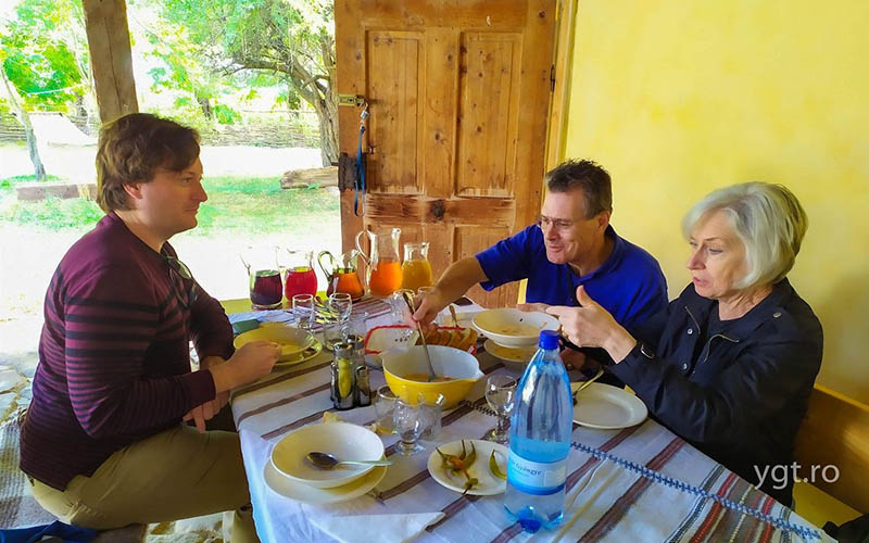 Transylvanian lunch + homemade wine tasting