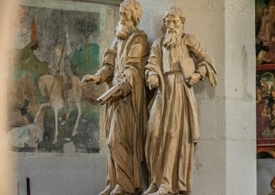 Evangelists statues