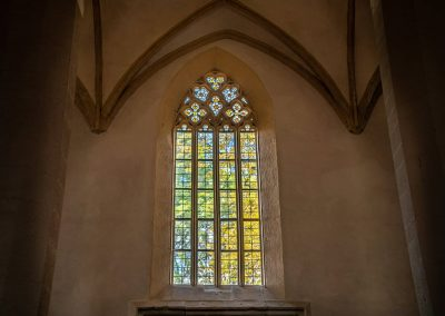 Stained grass window