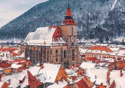 General View of Black Church in Brasov