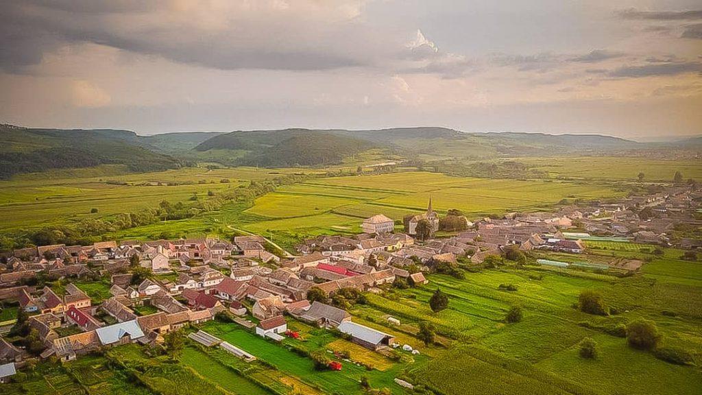 Hoghilag village aerial view