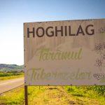 Hoghilag village entrance banner